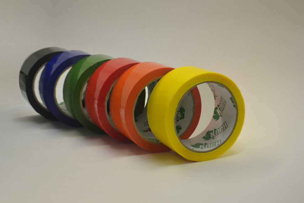 скотч цветной упаковочный Клен